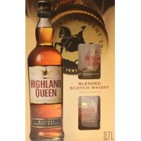 Виски Шотландии  Highland Queen / Хайленд Квин, 0.7 л (+2 бокала) [2117401174013]