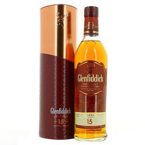 Виски Шотландии Glenfiddich 15 yo / Гленфиддик 15 ео, 0.7 л (в тубусе) [5010327335674]