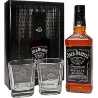 Бурбон США Jack Daniel's Old No.7 / Джек Дэниэлс Олд Но. 7, 0.7 л (под.уп. + 2 бокала) [5099873045855]