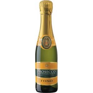 Вино игристое Италии Toso Prosecco Extra Dry / Тосо Просекко Спуманте Экстра Драй, Бел, Сух, 0.2 л [8002915002478]