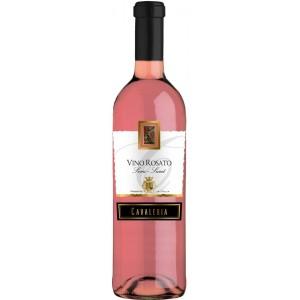 Вино Италии Cavaleria, Vino Rosato Senza Semi Dolce / Кавалерия, Вино Розато Сенца Семи Дольче, Роз, П/Сл, 0.75 л [8005890802828]