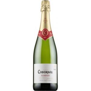 Вино игристое Испании Codorniu Clasico Seco / Кодорнью Класико Секо, Бел, Сух, 0.75 л [8410013382017]