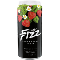 Сидр Эстонии Fizz Strawberry, 4%, 0.5 л ж/б [4740098079316]
