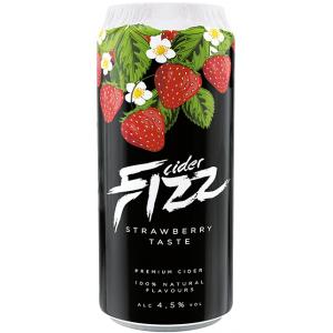 СидрFizzStrawberry / Физз Клубника,ж/б, 4%, 0.5 л [4740098079316]
