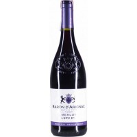 Вино Франции Baron d'Arignac Merlot / Барон д'Ариньяк Мерло, Кр, П/Сух, 0.75 л [3263280141109]