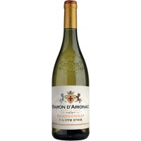 Вино Франции Baron d'Arignac Chardonnay, Бел, П/Сух, 0.75 л 13% [3263286343125]