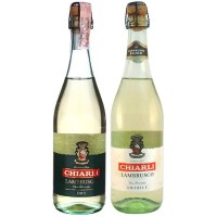 Подарочный набор Вино игристое Италии Chiarli Lambrusco Bianco, Бел, Сл, 0.75 л + Bianco, Бел, Сух, 0.75 л [2129561295613]