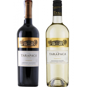 Подарочный набор Вино Чили Tarapaca Reserva Cabernet Sauvignon кр, сух, 0.75 л + Sauvignon Blanc бел, сух, 0.75 л [2135512355121]