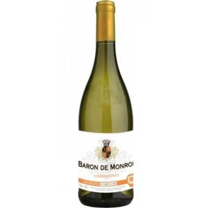 Вино Франции Baron de Monroe Chardonnay / Барон де Монро Шардоне, Бел, Сух, 0.75 л [3186127800796]