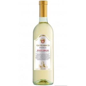 Вино Италии Castelmarco Terre Siciliane Inzolia Pinot Grigio Bianco / Кастельмарко Терре Сицилиане Инзолия Пино Гриджо Бьянко, Бел, Сух, 0.75 л [8005890800831]