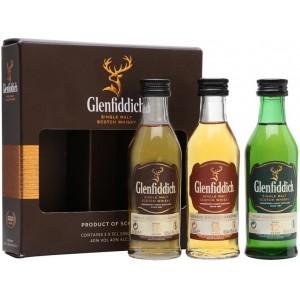 Виски Шотландии Glenfiddich Single Malt Mix Pack (12 yo, 15 yo, 18 yo) / Гленфиддик Сингл Молт Микс Пек (12 ео, 15 ео, 18 ео), 3х0.05 л [5010327379173]