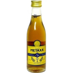 Бренди Греции  Metaxa 5 yo / Метакса 5 лет, 38%, 0.05 л [5202795120184]