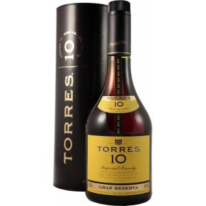 Бренди Испании Torres 10 yo, 38%, 0.7 л (в тубусе) [8410113020079]