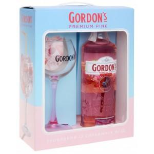 Джин Великобритании Gordon's Premium Pink / Гордонс Премиум Пинк, 37.5%, 0.7 л + бокал [4820178650809]