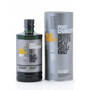 Виски Шотландии Bruichladdich Port Charlotte Islay Barley / Порт Шарлотт Айла Барли, 50%, 0.7 л, (в тубусе) [5055807409988]