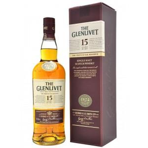 Виски Шотландии Glenlivet 15 yo / Гленливет 15 ео, 0.7 л, в подарочной кожаной упаковке [5000299295021]
