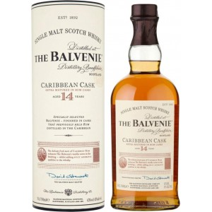 Виски Шотландии Balvenie Caribbean Cask 14 yo / Балвени Карибиан Каск 14 eo, 0.7 л [5010327524566]