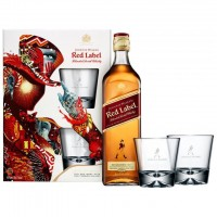 Виски Шотландии Johnnie Walker Red label / Джонни Уокер Рэд Лэйбл, под.уп + 2 бокала, 0.7 л [5000267128214]