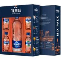 Набор водка Финляндии Finlandia / Финляндия, 0.5 л + 0.05х4 [5099873703182]