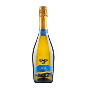 Вино игристое Италии Fragolino Bianco Brut Novellina / Фраголино Бьянко Брют Новеллина, Бел, Брют, 0.75 л [8004300360521]