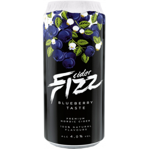 Сидр Fizz Blueberry / Физз Черника, ж/б, 4%, 0.5 л [4740098079309]