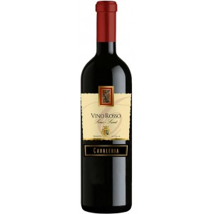 Вино Италии Cavaleria Vino Rosso Senza-Semi Dolce / Кавалерия Вино Россо Сенца Семи Дольче, Кр, П/Сл, 0.75 л [8005890802798]