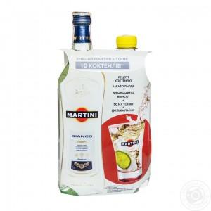 Набор Вермут Италии Martini Bianco, 15%, 0.5 л + Тоник, 0.5 л [5011020006489]