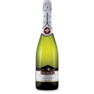 Вино Грузии игристое Khareba, белое, полусухое, 0.75 л, 12% [4860001191031]