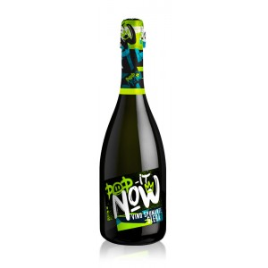 Вино игристое Италии Pop It Now Glera Vino Spumante Brut / Поп Ит Нав Глера Вино Спуманте Брют, Бел, Сух, 0,75 л [8003625014720]