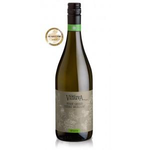 Вино Италии Vinuva Pinot Grigio Terre Siciliane Organic / Винува Пино Гриджо Терре Сичилиане Органик, Бел, Сух, 0,75 л [8003625071006]