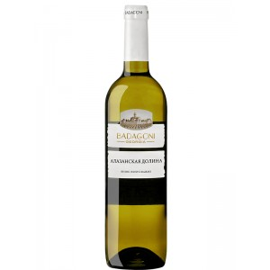 Вино Грузии Бадагони Алазанская Долина, Бел, П/Сл, 0.75 л 12% [4860006040549]