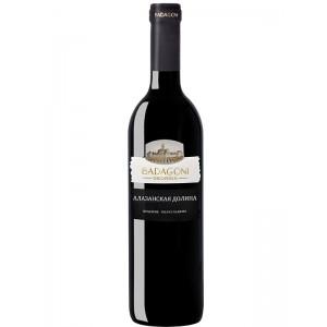 Вино Грузии Бадагони Алазанская Долина, Кр, П/Сл, 0.75 л 11% [4860006040440]