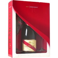 Шампанское Франции Mumm Cordon Rouge Brut / Мумм Кордон Руж Брют,12%, Бел, Брют, 0.75 л (под.уп. + 2 бокала) [3043700333815]