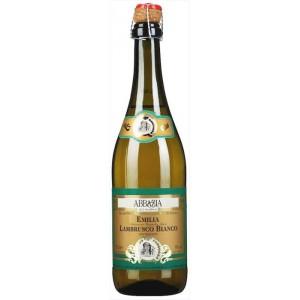 Вино игристое Италии Abbazia Lambrusco Bianco Frizzante / Аббрация Ламбруско Бьянко Фризанте, Бел, П/Сух, 0.75 л [8001592003846]