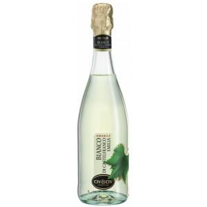 Вино игристое Италии Le Foglie Lambrusco Bianco dell'Emilia Amabile, Бел, П/Сл, 0.75 л 8% [8001929315840]