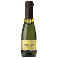 Вино искристое Италии Casa Defra Prosecco Spago Frizzante, 10.5%, Бел, П/Сух, 0.2 л [8008900006292]