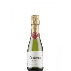 Вино игристое Испании Codorniu Clasico Seco / Кодорнью Класико Секо, Бел, Сух, 0.375 л [8410013382031]