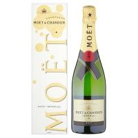 Шампанское Франции Moet & Chandon Brut Imperial Bubbly Eoy / Моет Шандон Брют Империал, Бел, Сух, 0.75 л (под.уп.) [3185370572382]
