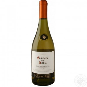 Вино Чили Casillero del Diablo Chardonnay Reserva / Казильеро дель Дьябло Шардоне Резерва, Бел, П/Сух, 0.75 л [7804320256900]
