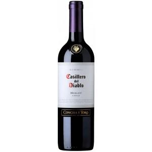 Вино Чили Casillero del Diablo Merlot Reserva / Казильеро дель Дьябло Мерло Резерва, Кр, Сух, 0.75 л [7804320985633]