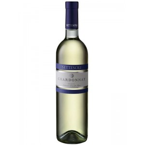 Вино Италии Settesoli Chardonnay, Бел, Сух, 0.75 л 13% [8000254000803]
