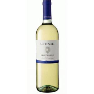 Вино Италии Settesoli Pinot Grigio, Бел, Сух, 0.75 л 11% [8000254000926]