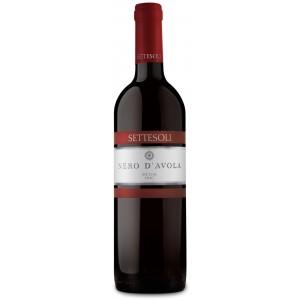 Вино Италии Settesoli Nero D'Avola, Кр, Сух, 0.75 л 12% [8000254001374]