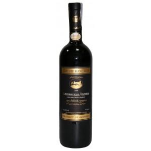 Вино Грузии Сердце Кахетии Алазанская Долина, 11.5%, кр, п/сл, 0.75 л [4820135490028]