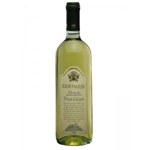 Вино Италии Cornaro Pinot Grigio / Корнаро Пино Гриджио, Бел, Сух, 0.75 л [8000555000175]