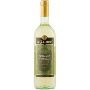 Вино Италии La Cacciatora Trebbiano D'abruzzo / Ла Каччиатора Треббьяно д'Абруццо, Бел, Сух, 0.75 л [8004300668641]