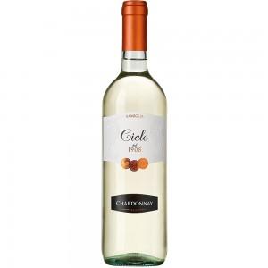 Вино Италии Cielo Chardonnay / Чело Шардоне, Бел, Сух, 0.75 л [8008900001075]
