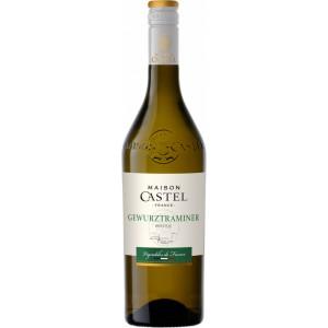 Вино Франции Maison Castel Gewurztraminer / Мезон Кастель, Гевюрцтраминер, белое, полусухое, 12.5%, 0.75 л [3211209267126]