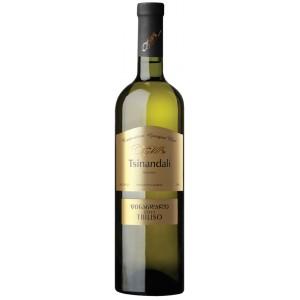 Вино Грузии CGW Tbiliso Цинандали, белое, сухое, 12.5%, 0.75 л [4860099001816]