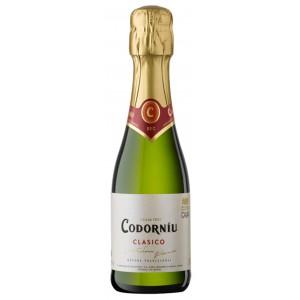 Вино игристое Испании Codorniu Clasico Seco / Кодорнью Класико Секо, Бел, Сух, 0.2 л [8410013382048]